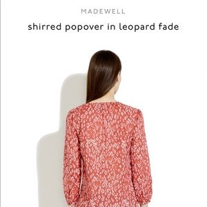 Madewell Tops - Shirred popover in leopard fade